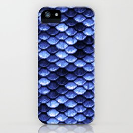Mermaid Tail Navy Blue iPhone Case