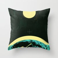 kansas Throw Pillows featuring Not In Kansas Anymore by Señor Salme