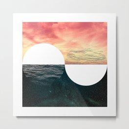 Sunset Moon Horizon Metal Print