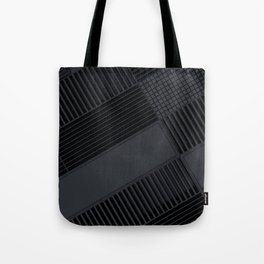 Futuristic industrial grates and technological elements Tote Bag