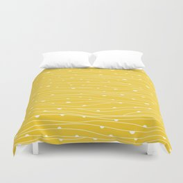 Abstract lines and dots pattern Duvet Cover