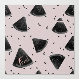 Watermelon with the Seeds Canvas Print