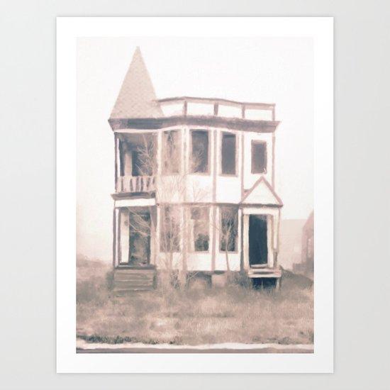 Detroit Abandoned House Art Print
