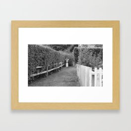 Through The Hedges Framed Art Print