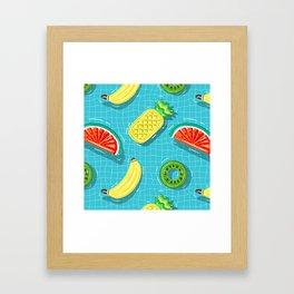 Pool Party pineapple, watermelon,banana,kiwi Framed Art Print