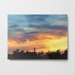 Niagra Falls Sunset Metal Print
