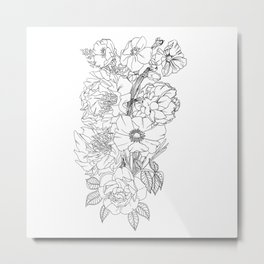 Botanical outline Metal Print