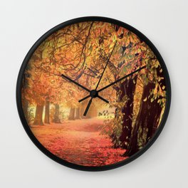 Autumn - the leaves are falling Wall Clock