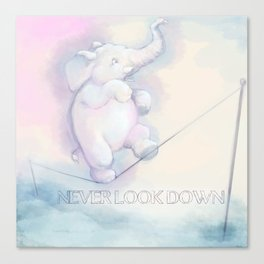 Never Look Down Canvas Print