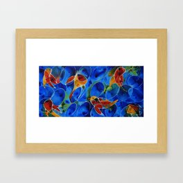 Koi Pond 2 - Liquid Fish Love Art Framed Art Print