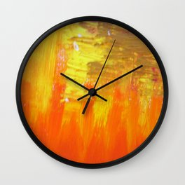 Aflood with gold and rose Wall Clock