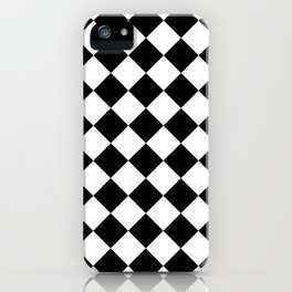 Rhombus (Black & White Pattern) iPhone Case