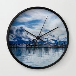 Seward Boat Harbor, Alaska Wall Clock
