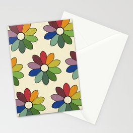 Flower pattern based on James Ward's Chromatic Circle Stationery Cards