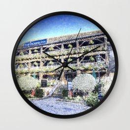 Dickens Inn Pub London Art Wall Clock