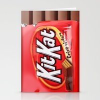 kit king Stationery Cards featuring Kit Kat by niklasedlund