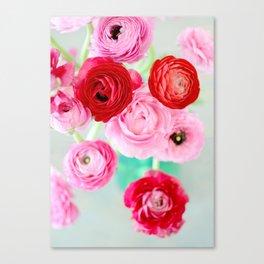 Ranunculus Confetti Canvas Print