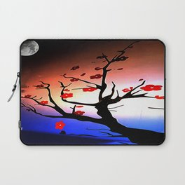 Japanese Maple Under Night Sky With Moon Laptop Sleeve