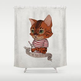 FRANKIE THE CAT Shower Curtain