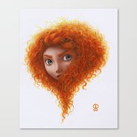 merida Canvas Prints featuring Merida by Ronald Restituyo