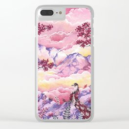 Lonely Phoenix Clear iPhone Case