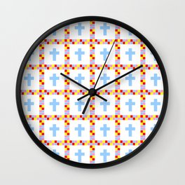 Christian Cross 45 Wall Clock