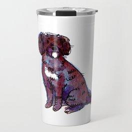 Polly - Dog Watercolour Painting Travel Mug