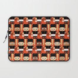 Baseball Black and Orange - Super cute sports stars Laptop Sleeve