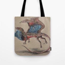 Fan Throated Dragon Tote Bag