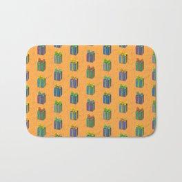 Presents pattern orange Bath Mat