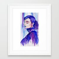 audrey hepburn Framed Art Prints featuring Audrey Hepburn by VivianLohArts