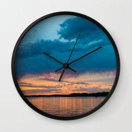 Cotton Lake Sunset Wall Clock