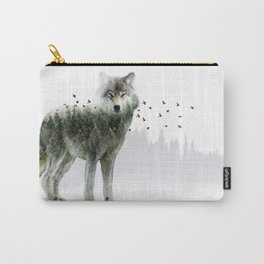 Wild I Shall Stay | Wolf Carry-All Pouch