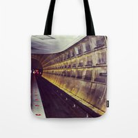 subway Tote Bags featuring Subway by wendygray