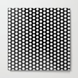 New white black pattern Metal Print