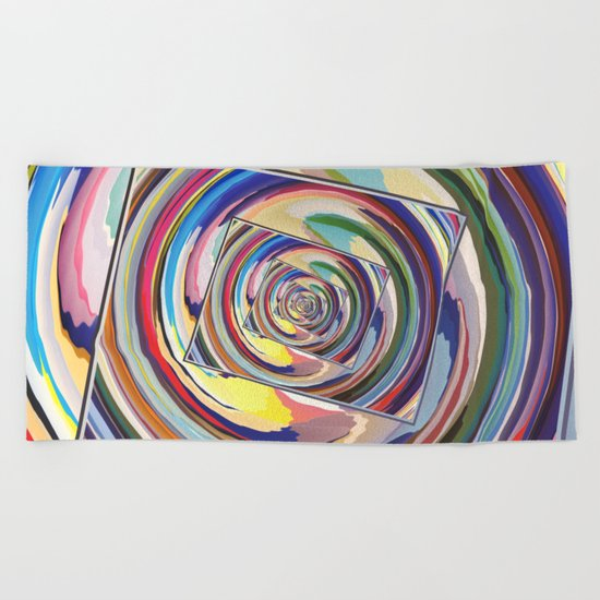 Spinning Colors Abstract Beach Towel