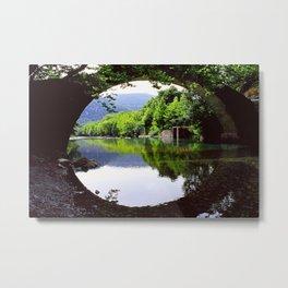 A Bridge Crossing Voidomatis River Metal Print