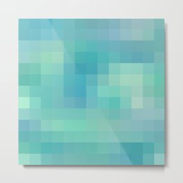 Re-Created Colored Squares No. 17 by Robert S. Lee Metal Print