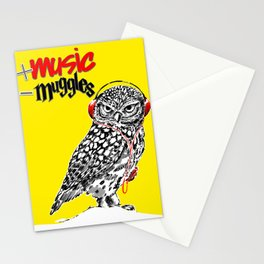 More music, less muggles Stationery Cards