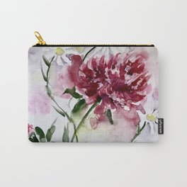 Peonies and Daisies Carry-All Pouch