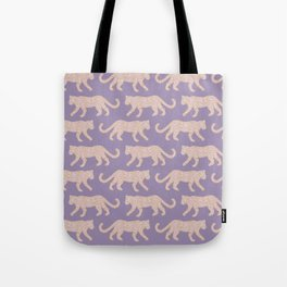 Kitty Parade - Pink on Lavender Tote Bag