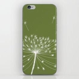 Dandelion Seeds Green iPhone Skin