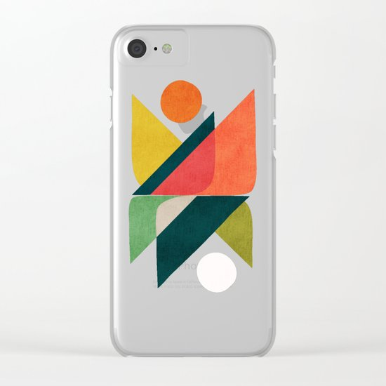 Reflection (of time and space) Clear iPhone Case