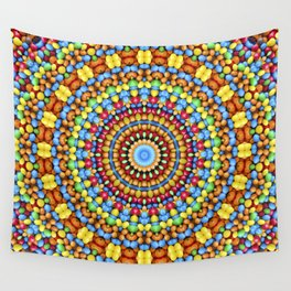 Kaleidoscope Candy Wall Tapestry