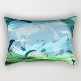 Paragliding Rectangular Pillow