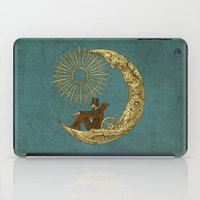 rug iPad Cases featuring Moon Travel by Eric Fan
