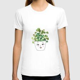 Shamrock Face Vase T-shirt