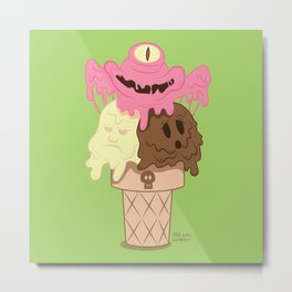 Neapolitan - The Psychopath Icecream Metal Print