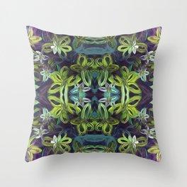 Tropical Greenery Throw Pillow