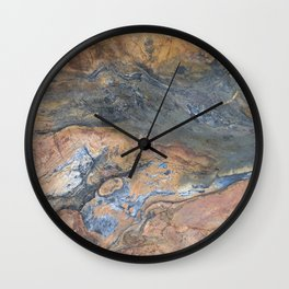 Earth Tones Wall Clock